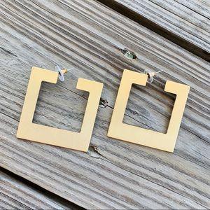 Jewelry - Gold Square Hoop Earrings